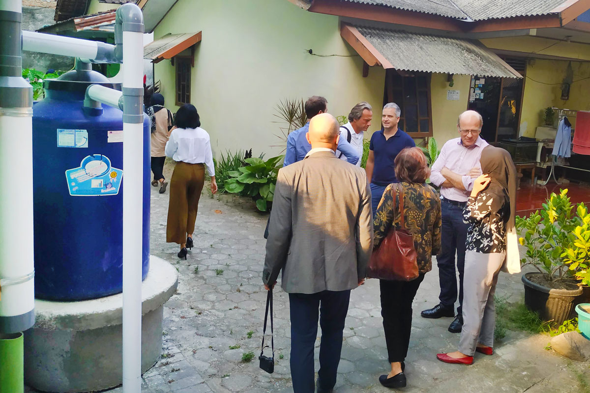 PolyUrbanWaters site visit in Sleman, Indonesia: DEWATS in residential area