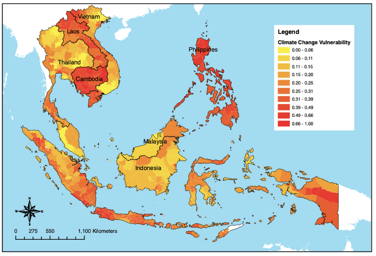 Southeast Asia: Climate Change Vulnerability (2019)